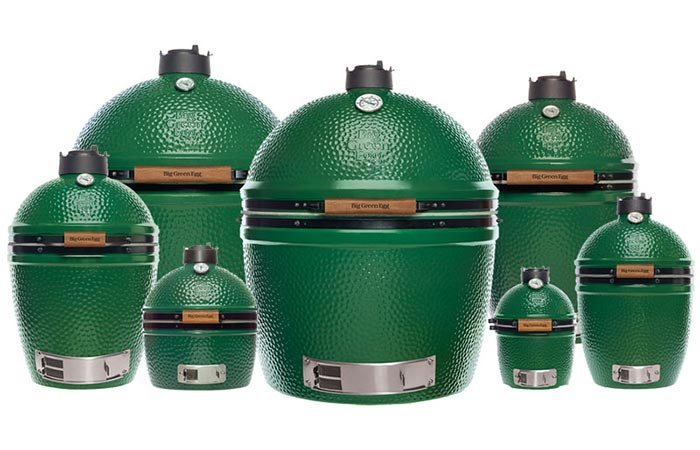 Seven Sizes Of Big Green Egg Grill