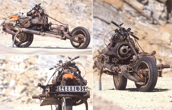 Emile Leray Used Broken Car Parts To Build A Motorcycle