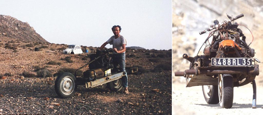 Emile Leray Used Broken Car Parts To Build A Motorcycle And Escape The Desert