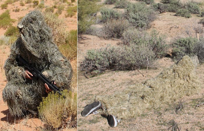 Arcturus Ghillie suit being used outside