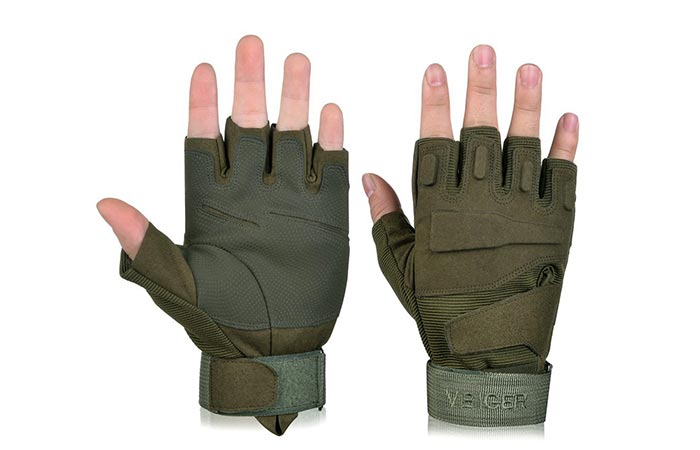 Vbiger Military spec half finger gloves