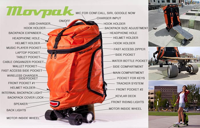 The Movpak with all of its features and being used outside.