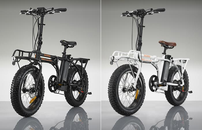 The Radmini Electric bicycle in two different colors