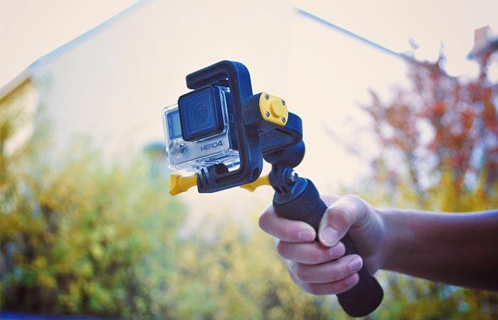 Holding STABYLIZR GoPro Camera Stabilizer