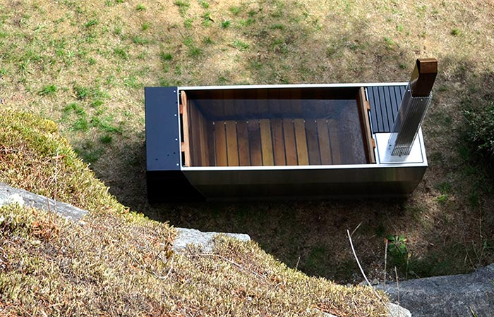 Soak Wood Fired Hot Tub From Above