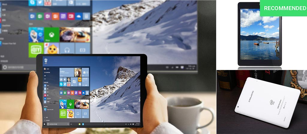 The Teclast X89 Kindow being used while screen mirroring as well as a view of the back