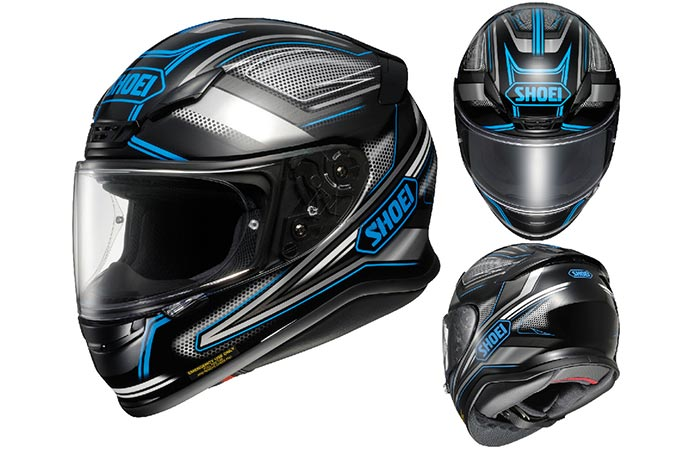 The Shoei RF-1200 Dominance helmet with white background