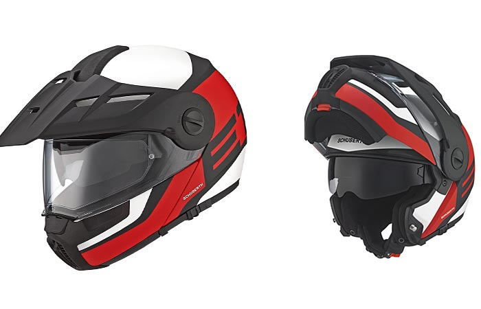 Schuberth E1 guardian helmet with white background