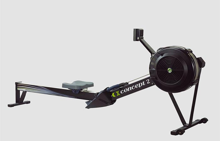 Concept 2 Model D black against grey background