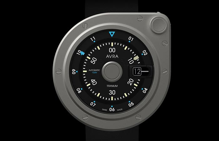 Avra 1-Hundred titanium design with black background