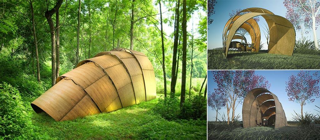 Armadillo Tea Canopy | By Ron Arad