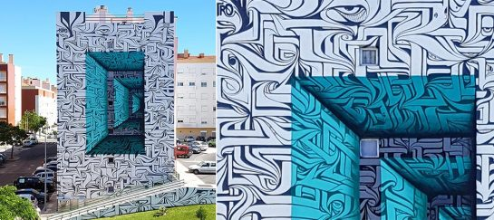 Astro Creates A Mind-bending Mural In Portugal