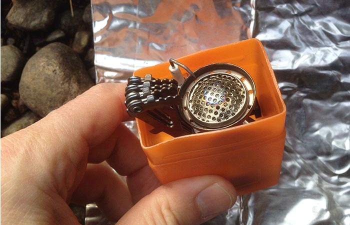 Etekcity burner collapsed and inserted into case