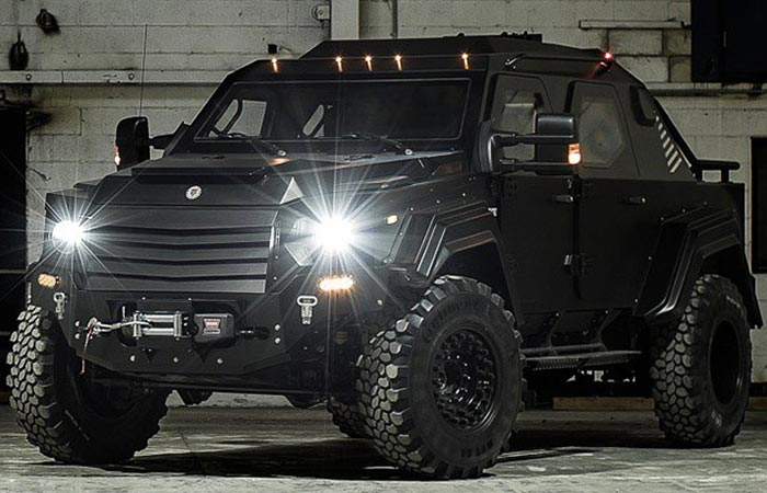 Front view of the Gurkha RPV