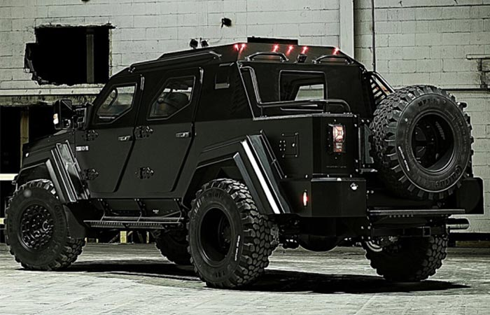 Back view of the Gurkha RPV