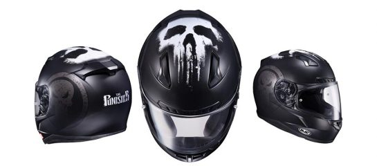 HJC CL-17 | Marvel Collaboration Punisher Motorcycle Helmet