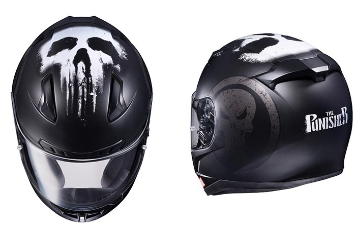 Front and Back views of the HJC CL-17 Punisher helmet
