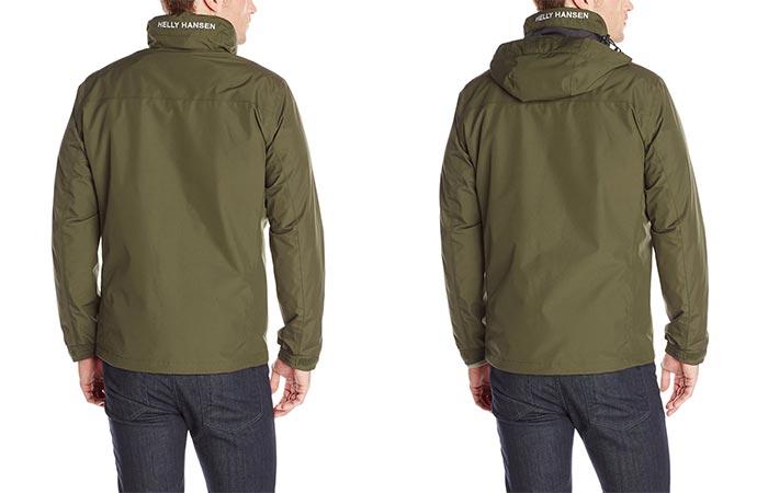 Hood On Olive Helly Hansen Dubliner Rain Jacket