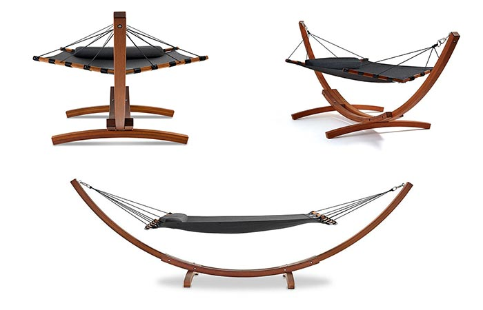 Lujo Living Free-standing Double Hammock From Different Sides