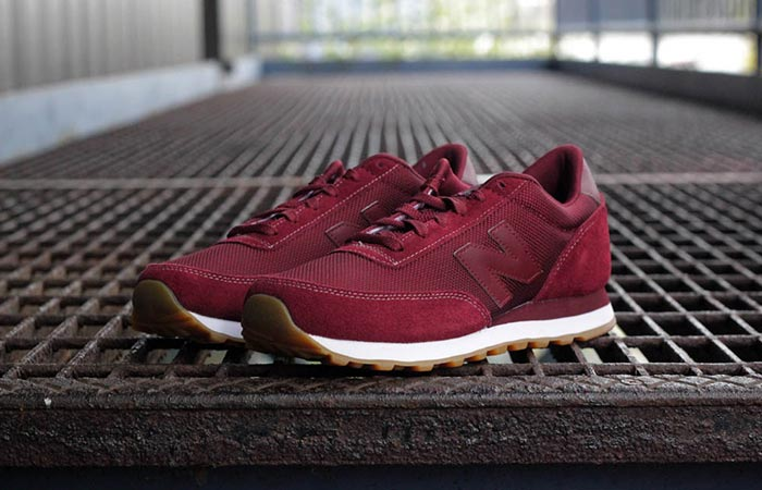 New Balance 501 Ripple Sole Classic Sneakers Burgundy
