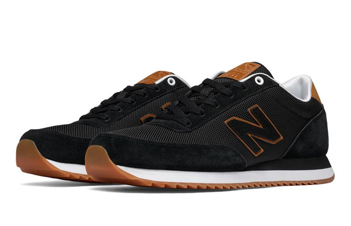 Black New Balance MZ501 Ripple Sole Classic Sneaker