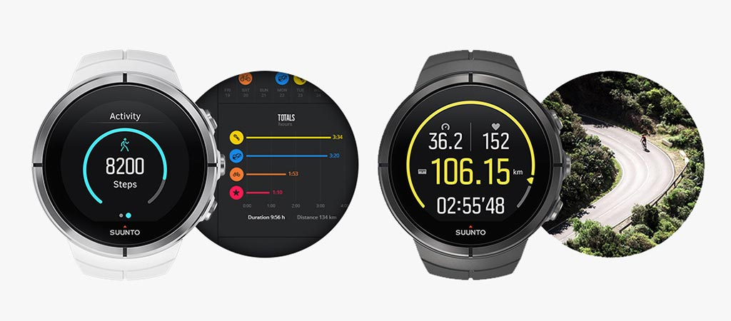 Two different watches from the Suunto Spartan Ultra Watch range