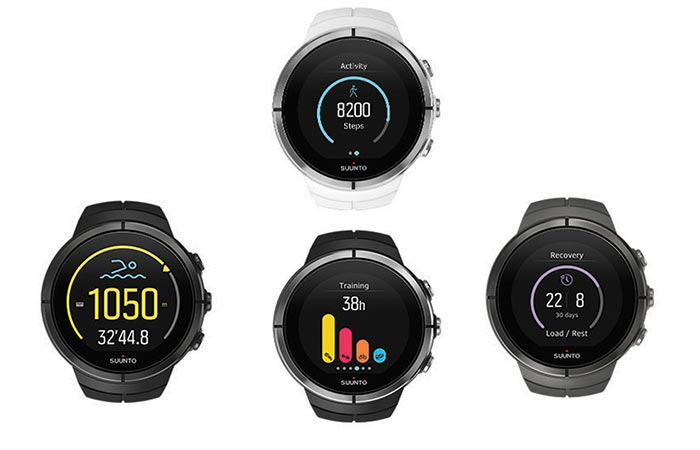 The 4 different watches in the Spartan Ultra range