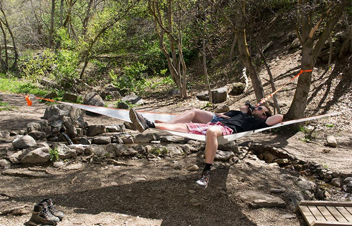 Man chilling in T-Mini & Tentsile T-Mini Hammock | An Easy To Use 2 Person Hammock | Jebiga ...
