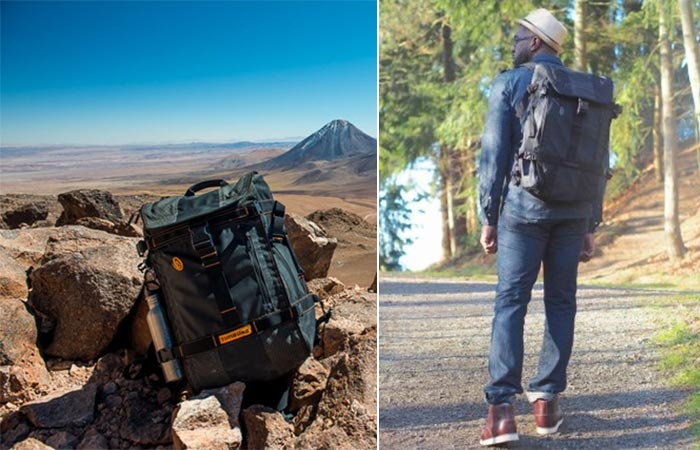 Timbuk2 Aviator with desert background and man wearing one