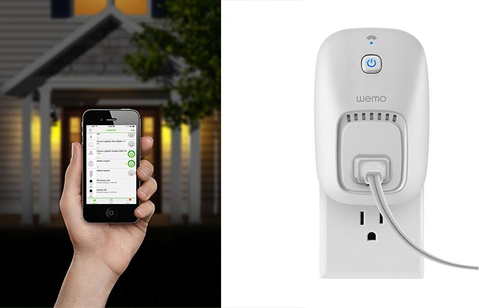 Wemo mobile app and wall appliance unit