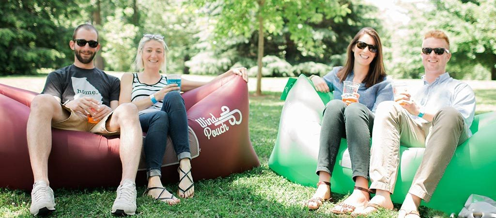 Windpouch Inflatable Polyurethan Coated Sofa Lounger