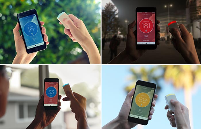 Tracker And App For Wynd Personal Air Purifier Detecting Air Quality