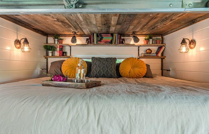Alpha Tiny House Loft Bedroom
