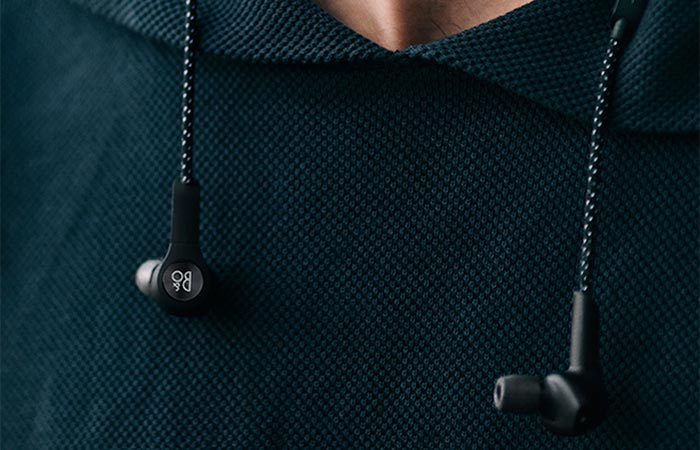 Bang & Olufsen Beoplay H5 Wireless In-Ear Headphones Around The Neck