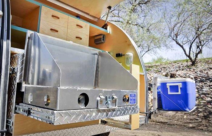 Colorado Teardrops Summit Galley With Cooler Box