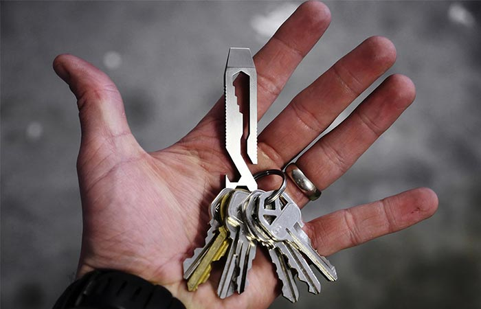Holding Griffin Pocket Multi Tool In A Palm