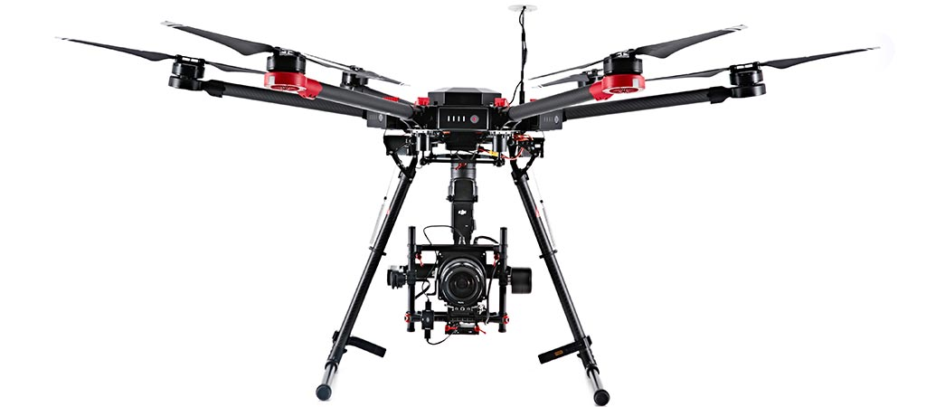 Hasselblad X DJI A5D-M600 drone front view