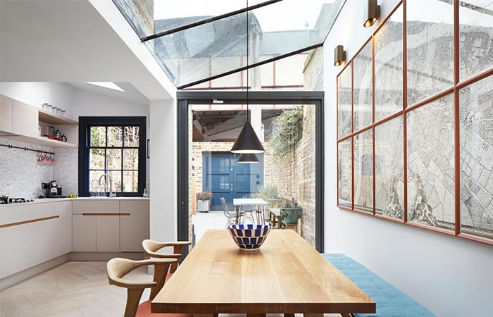 Lambeth Marsh House Glass Roof Extension