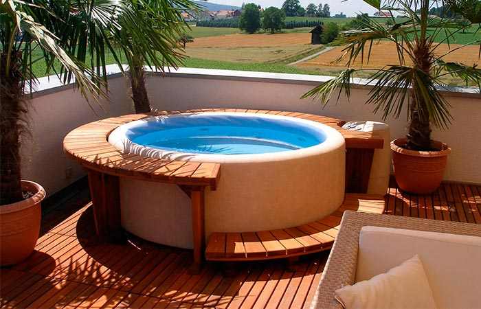 Softub On A Balcony