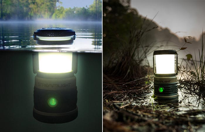 Streamlight Siege AA Lantern Under Water And On A Muddy Surface