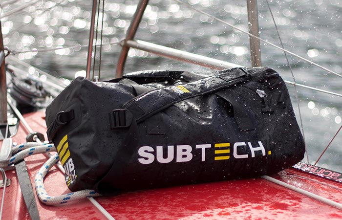 Subtech Pro Drybag On A Boat