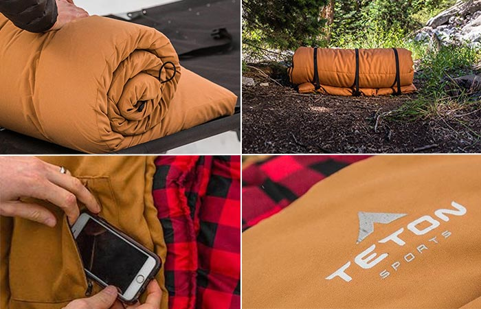 Four images of TETON Deer Hunter Sleeping Bag