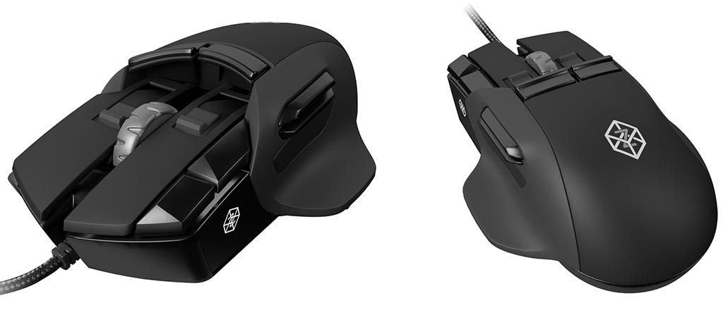 Two different views of The Z gaming mouse
