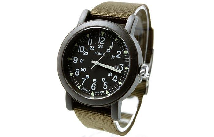 Green Timex Camper Watch
