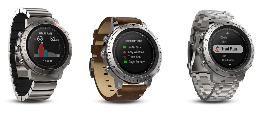 3 different models of the Garmin Fenix Chronos