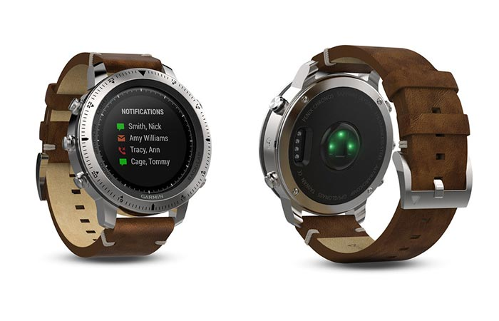 Garmin Fenix Chronos steel and leather version