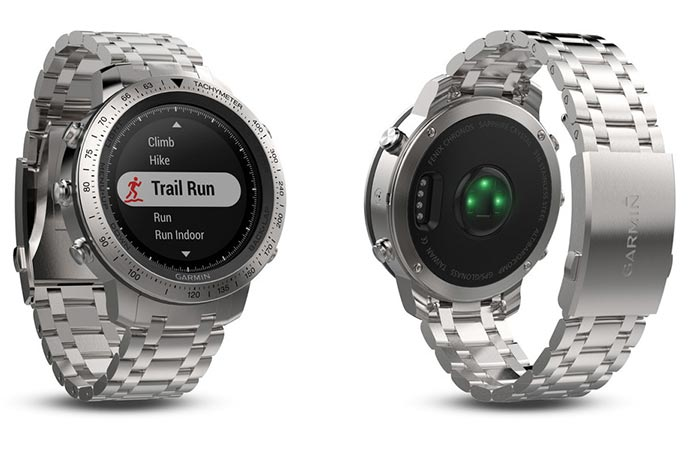 Garmin Fenix Chronos steel and brushed steel band