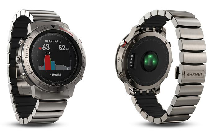 Garmin Fenix Chronos Titanium with brushed titanium band
