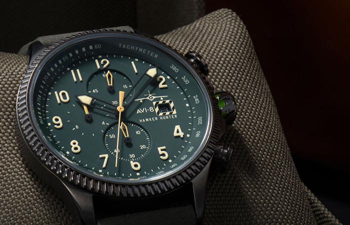 Hunter Hawker Watch on a cushion