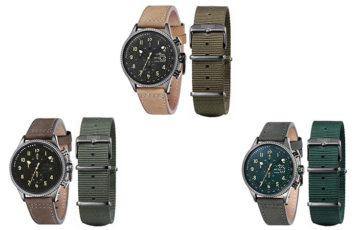 The three different Hawker Hunter watches that are available